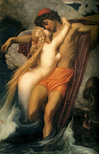 385px-Leighton-The_Fisherman_and_the_Syren-c._1856-1858