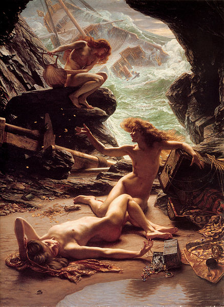 437px-Sir_Edward_John_Poynter_—_Cave_of_the_Storm_Nymphs